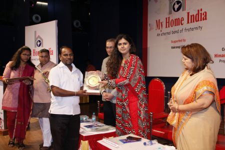 My Home India Award-Through the hands of Cabinet Minister, Pankaja Munde Women and Children Department 07-03-2015_1